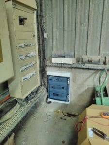 Rajout d un tableau électrique pour une nouvelle machine (après)